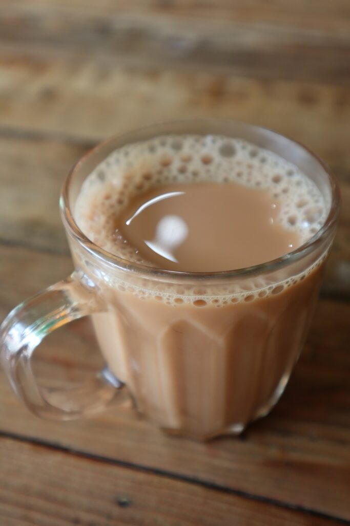 hot milk tea
